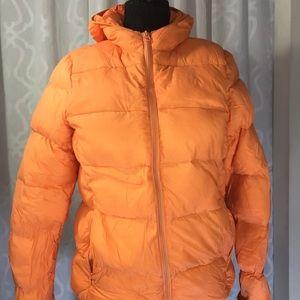 Joe Fresh Orange Ladies Large Down Packable Shell